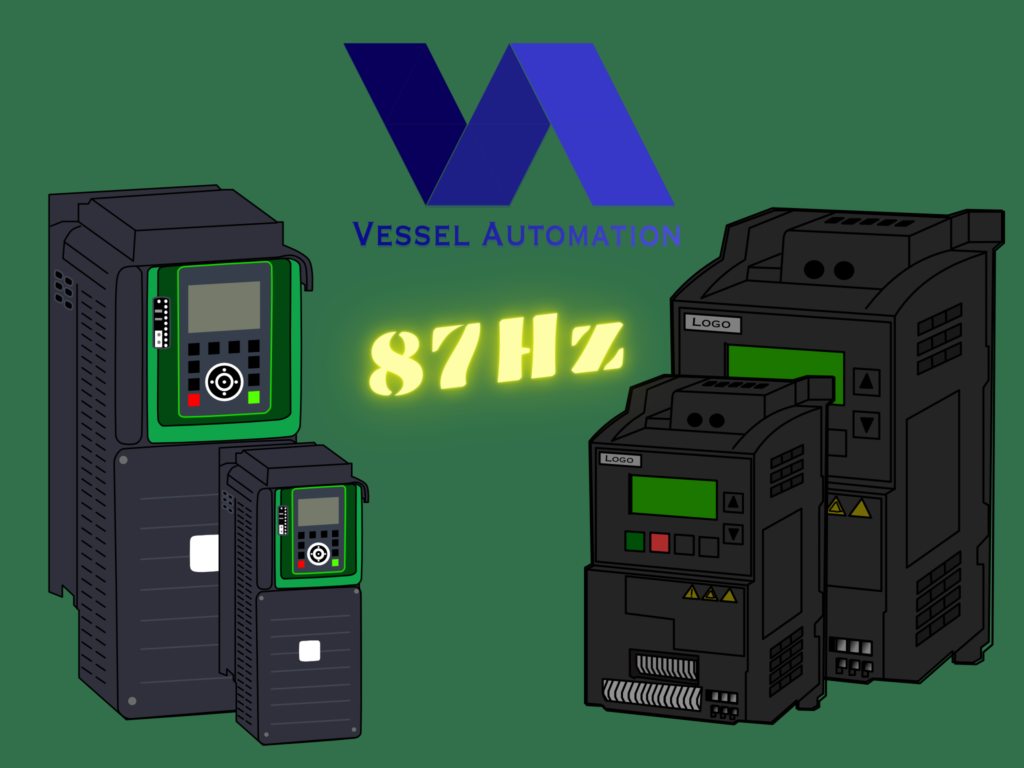 VFD: 87Hz characteristic, Scalar Control from another side