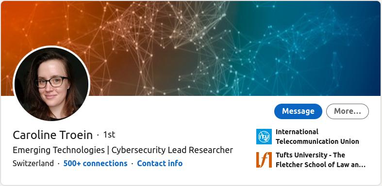 Cybersecurity Lear Researcher - Caroline Troein