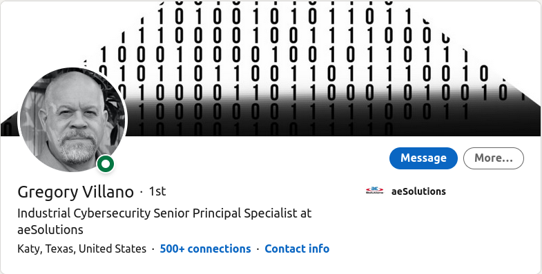 Maritime cybersecurity specialist - Gregory Villano