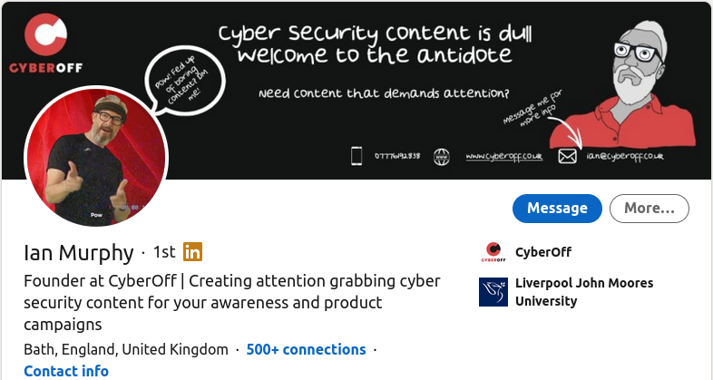 Cybersecurity Specialist - Ian Murphy