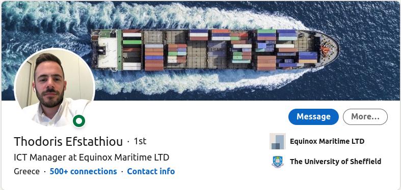 Maritime Cybersecurity Expert - Thodoris Efstathiou