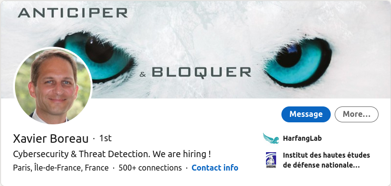 Cybersecurity Specialist - Xavier Boreau