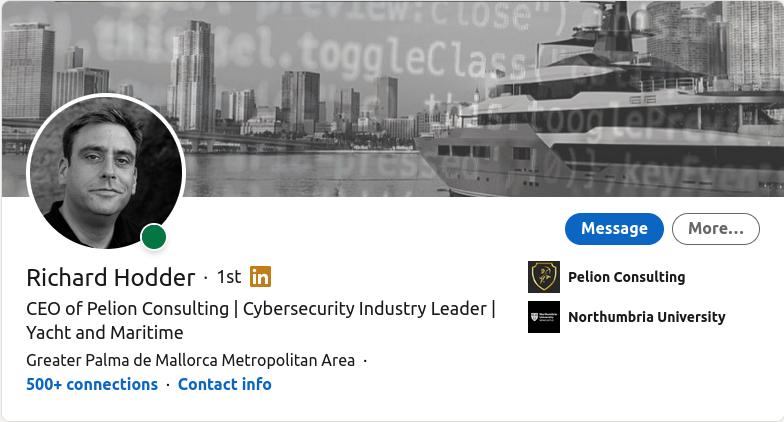 Maritime Cybersecurity Expert - Richard Hodder