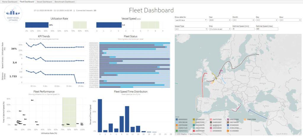 Big Data in maritime - Fleet Dashboard